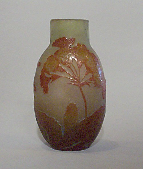 16: GALLE CAMEO GLASS VASE Etched & polished