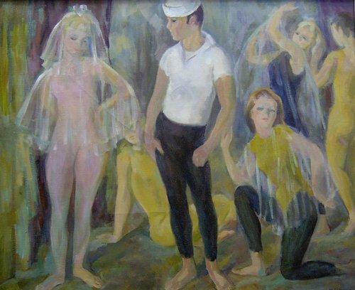 "1013: MARIAN D. HARRIS (American 1904-1988) """