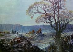 1202: LEONID GECHTOFF (American 1883-1944) TR
