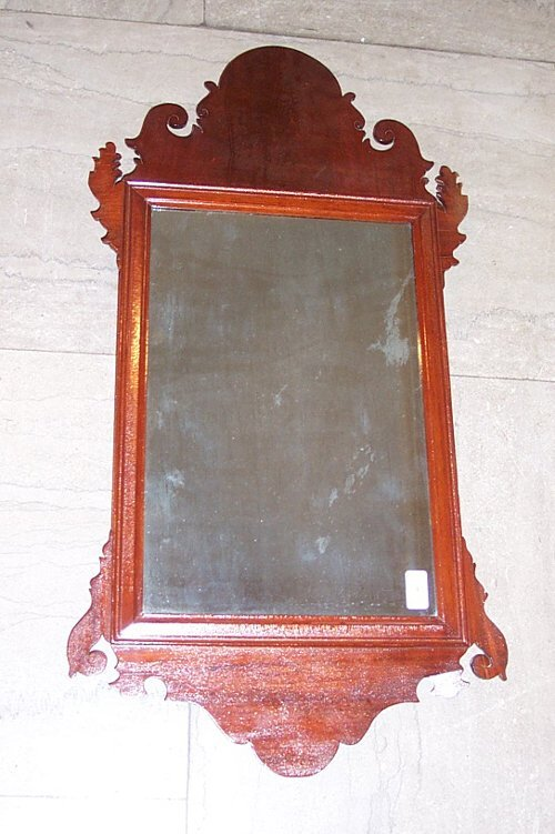 2004: CHIPPENDALE MAHOGANY LOOKING GLASS Late 18th cent