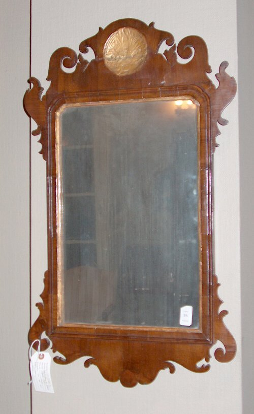 2016: MAHOGANY FRET-CARVED MIRROR English, late 18th ce