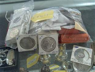 ASSORTED COINS Bag of Jefferson nickels, 8 mercury