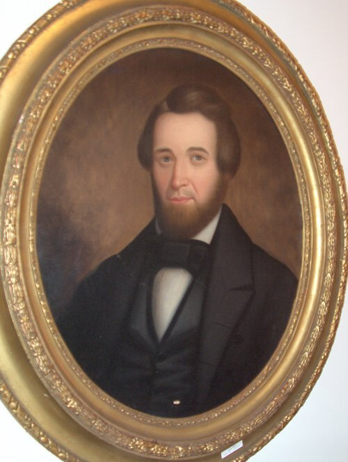507: PORTRAIT OF A GENTLEMAN Ca. 1850 With period oval