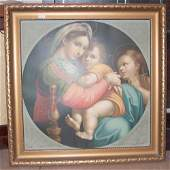 552 TWOPIECE FRAMED RELIGOUS PRINT AND ETCHING LOT 20