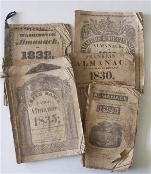6 vols. American 19th-Century Almanacs: Citizens