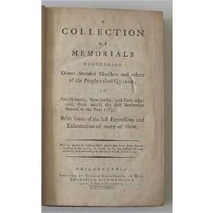 1 vol. A Collection of Memorials Concerning Diver