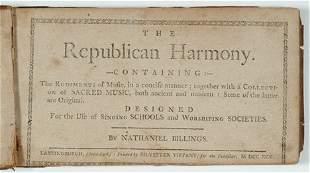 1 vol. (American 18th-Century Songster.) Billings