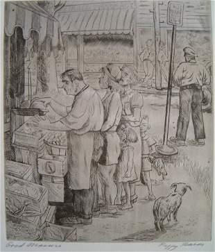 PEGGY BACON (American 1895-1987) Good Measure