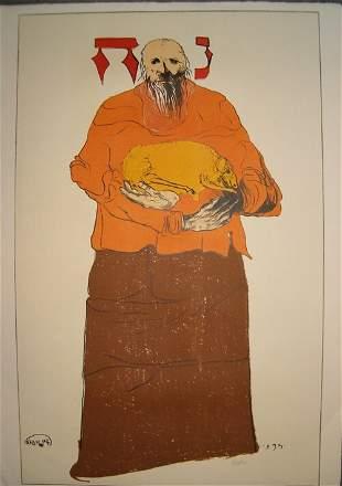 LEONARD BASKIN (American 1922-2000) Noah