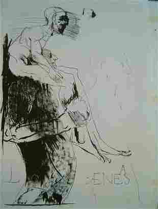 LEONARD BASKIN (American 1922-2000) Three Prints