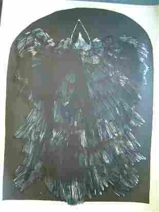 LEONARD BASKIN (American 1922-2000) Crow Ikon