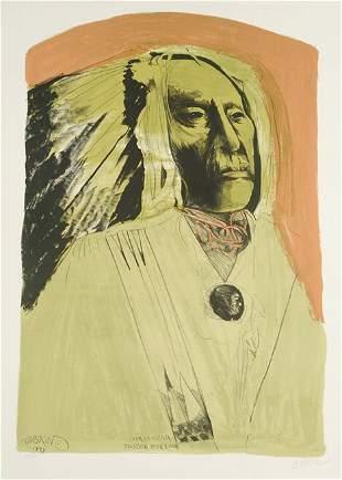 LEONARD BASKIN (American 1922-2000) High Bear