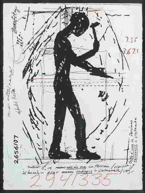 JONATHAN BOROFSKY (American b. 1942) Workers on P