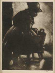 2375: DOX (DON) THRASH (American 1892-1965) Washerwoman