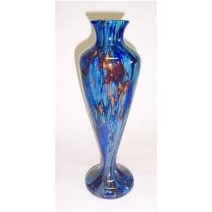 SCHNEIDER ART GLASS VASE Blown glass; engraved Sc