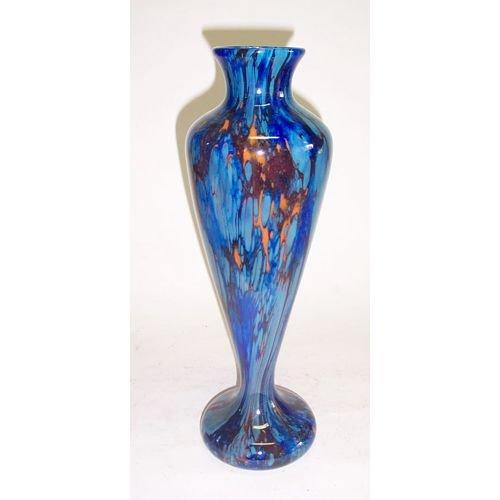 3005: SCHNEIDER ART GLASS VASE Blown glass; engraved Sc