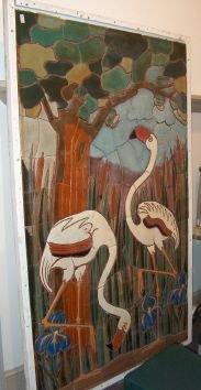 3019: LARGE MUELLER MOSAIC ARTS & CRAFTS TILE PANEL Mue