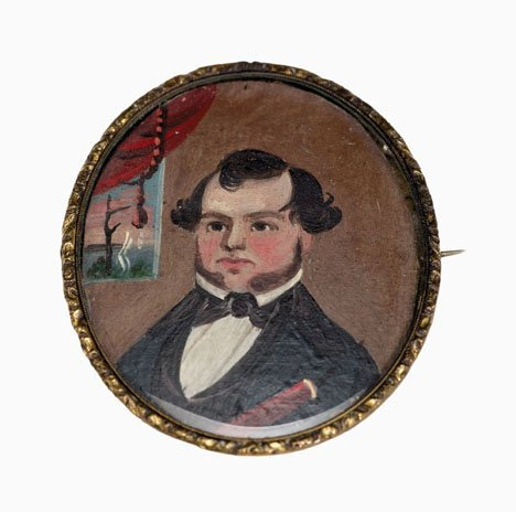 1291: Prior-Hamblen School, 19th century, miniature por
