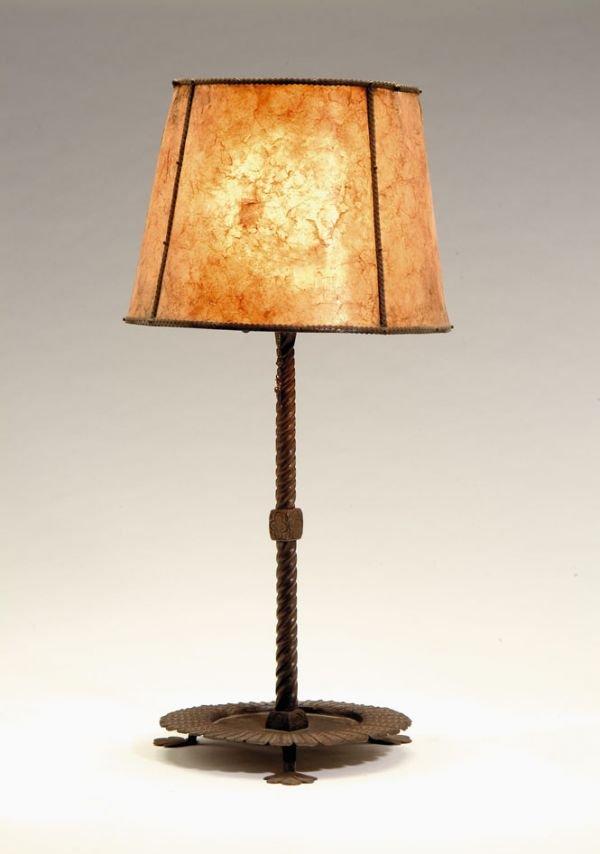 2395: Lamp by Samuel Yellin, 20th century, Wrought iron