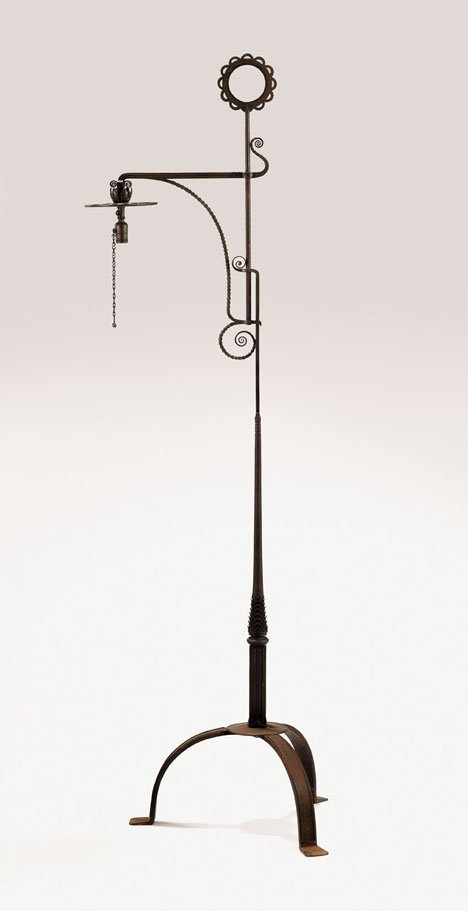 2400: Floor lamp by Samuel Yellin, 20th century, Orname