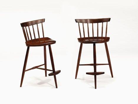 2403: Pair of stools by George Nakashima, 20th century,