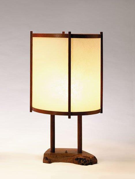 2409: Table lamp by George Nakashima, 20th century, Dru