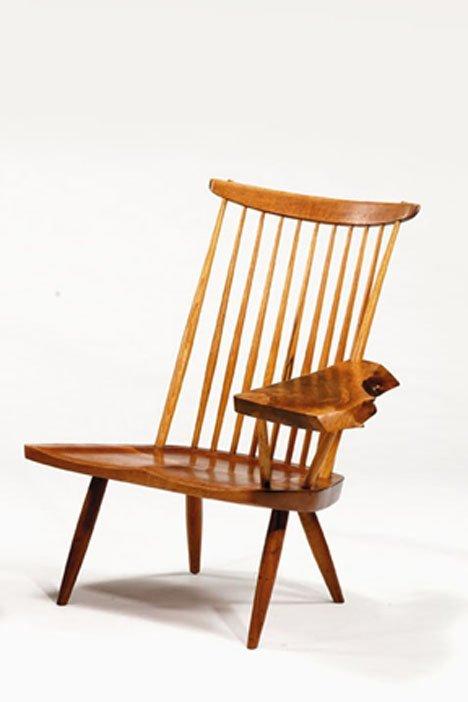 2413: Writing armchair by George Nakashima, 20th centur