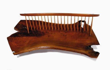 2414: Extraordinary bench by George Nakashima, circa 19 - 2