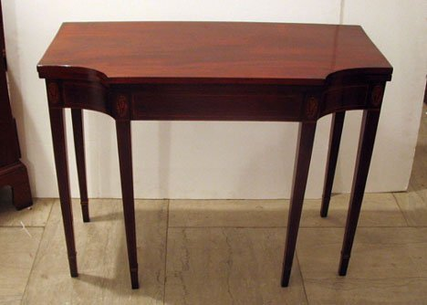 2501: Federal Inlaid mahogany card table, early 19th ce