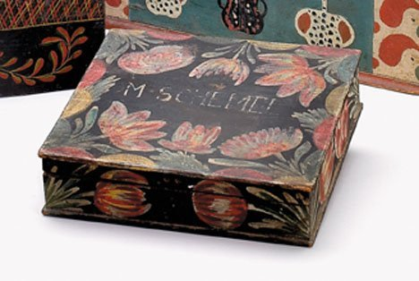 21343: A painted and decorated 'Bucher' box, berlin, la