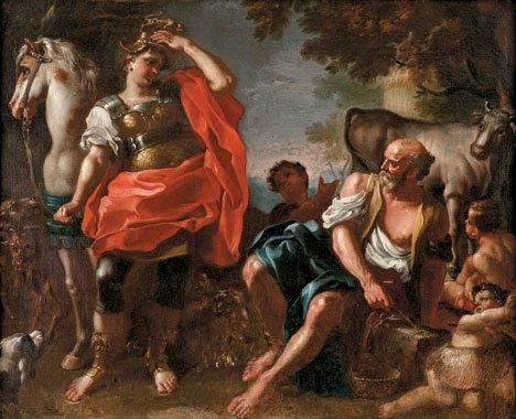 1: ATTRIBUTED TO PAOLO DE MAJO, (ITALIAN 1703-1784), ER