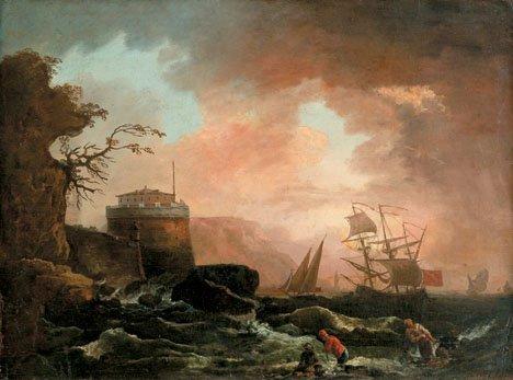 6: FOLLOWER OF CLAUDE JOSEPH VERNET, (FRENCH 1714-1789)