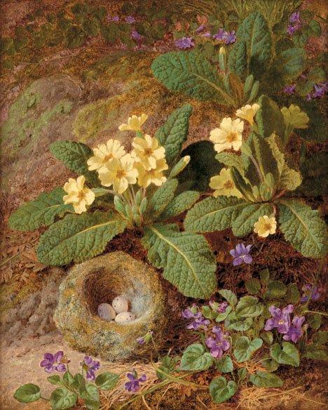 16: THOMAS WORSEY, (BRITISH 1829-1875), PRIMULA AND VIO
