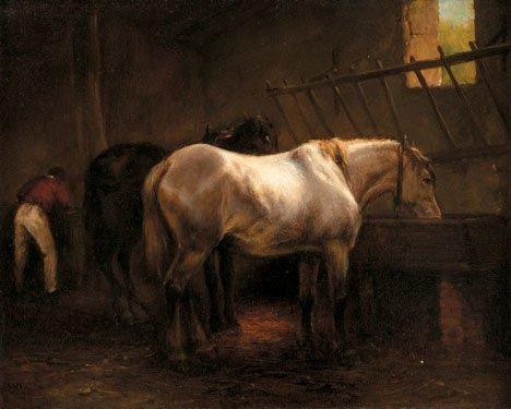 23: WOUTER VERSCHUUR, (DUTCH 1841-1936), HORSES AND GRO