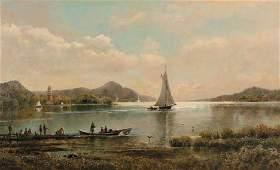 136: EDMUND DARCH LEWIS, (AMERICAN 1835-1910), FISHING