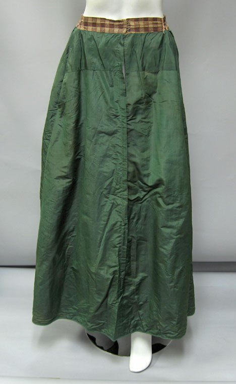 11005: Two silk skirts, 19th century, Probably costumes