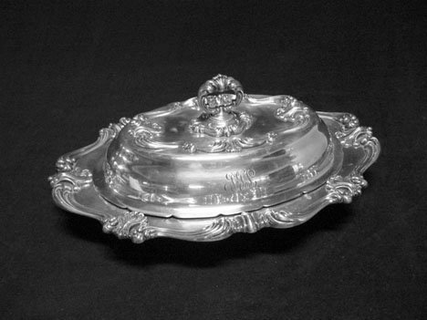 3169: Whiting sterling silver covered vegetable dish, l