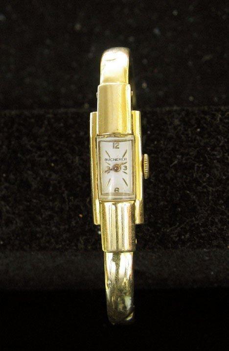 11A: 18kt. Gold Bucherer Lady's Wrist Watch, 20th c., H