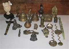 294: Twenty Four piece Brass, Bronze and Metal Group, 1