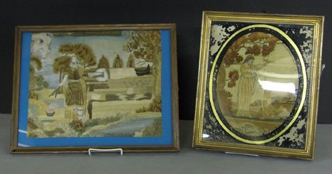 1411: Two piece Early Needleworks, 19th c., The needlew