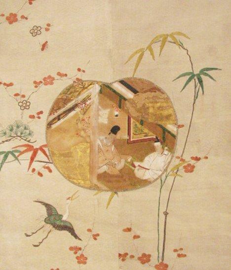 1419: Japanese Scroll, Tokugawa Period, Depicting two N