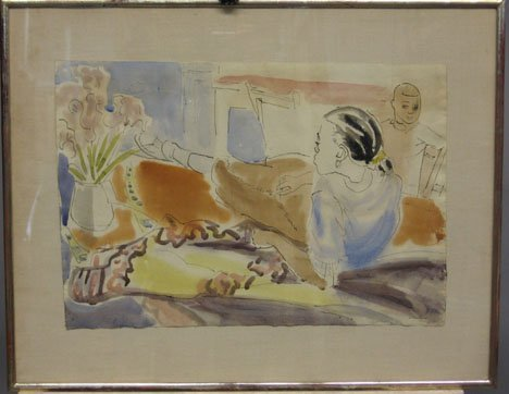 1421: MCCARTHY - RECLINING GIRL, , Signed lower right d