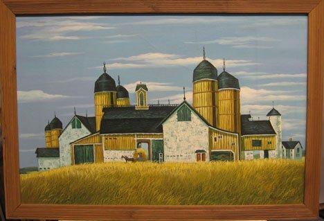 1432: ROY CAYLSON - FARM BUILDINGS, , Signed bottom rig