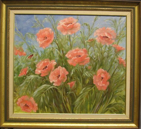 1433: GRACE BERRY - ORIENTAL POPPIES, , Signed bottom r