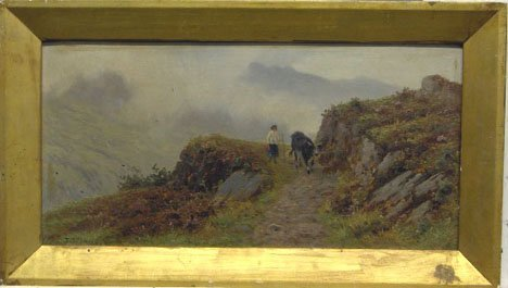 1438: T. SPINKS - MOUNTAIN TRAIL, 1897, Signed and date
