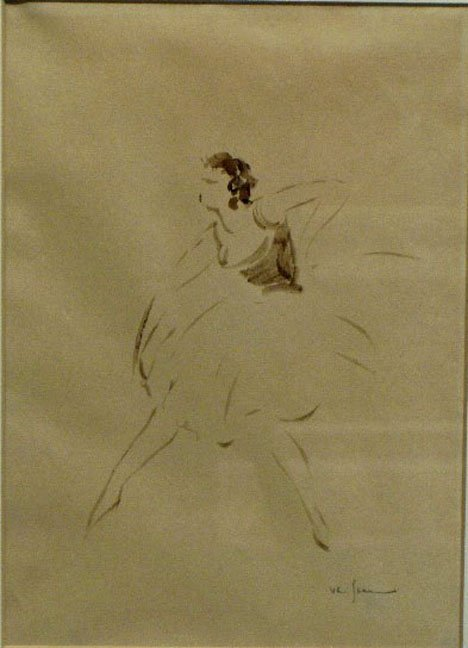 1450: BALLERINA, european, early 20th c., Signed lower