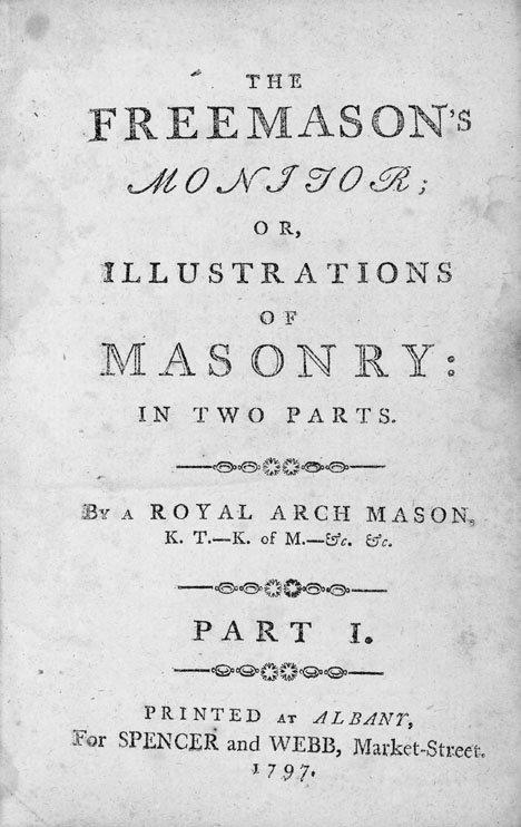 2106: 1 vol. [Webb, Thomas Smith.] The Freemason's Moni