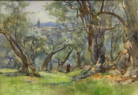 "3004: ONORATO CARLANDI, (ITALIAN 1848-1939), TIVOLI"""""