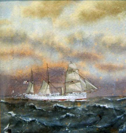 3005: MANNER OF FRANK MASON (20th century) STEAMSHIP In