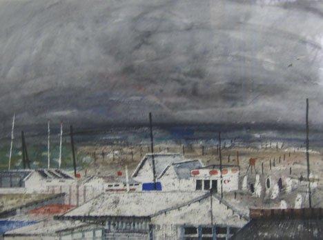 3015: MAARTEN KEMPER, (DUTCH 1944-1982), HOUSES BY THE